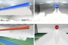纤维织物风管在现代化医药仓库精准送风